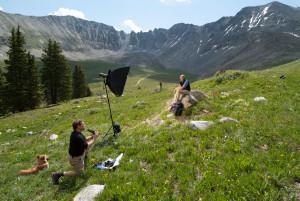 dog photographer photograph mountains